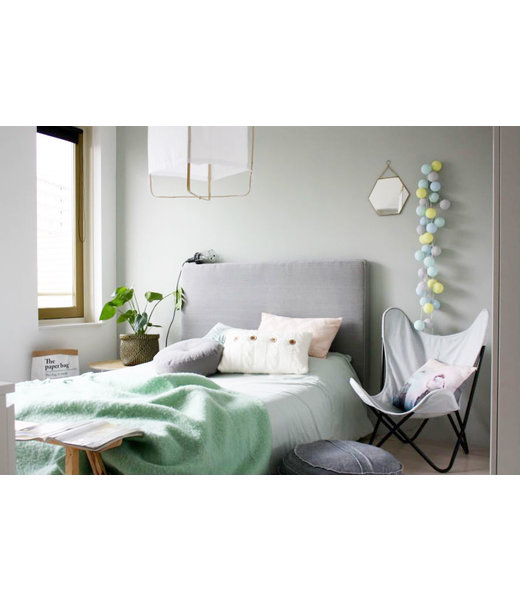COTTON BALL LIGHTS Inspiratie | Slaapkamer | Mix & Match Light Aqua Soft Yellow