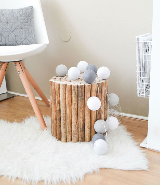 COTTON BALL LIGHTS Inspiration | Bedroom | Mix & Match White Stone Mid Grey