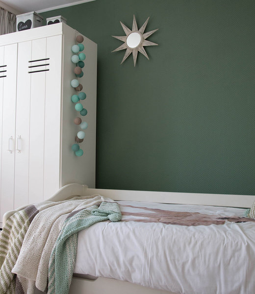 COTTON BALL LIGHTS Inspiration | Bedroom | Regular Mint String Light