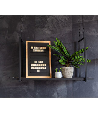 LEDR Inspiration | Wohnzimmer | Black Old School Letterboard