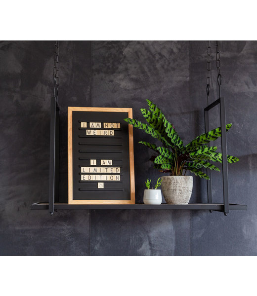 LEDR Inspiration | Bedroom | Black Old School Letterboard
