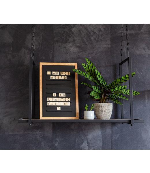 LEDR Inspiration | Wohnzimmer | Black Old School Letterboard