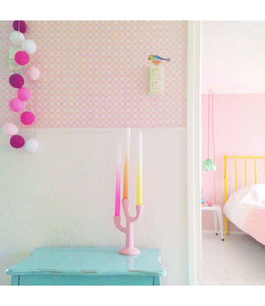 COTTON BALL LIGHTS Inspiration | Bedroom | Regular Pink String Light
