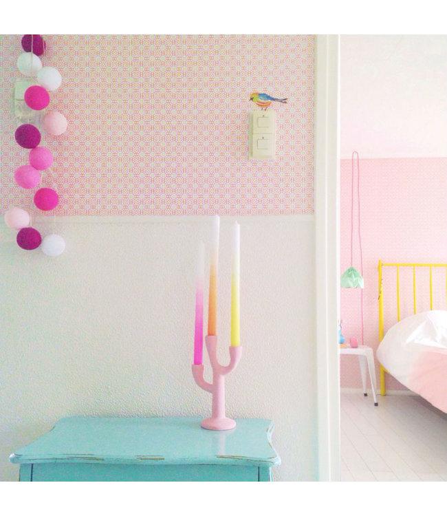 COTTON BALL LIGHTS Inspiratie | Slaapkamer | Regular Pink Lichtslinger