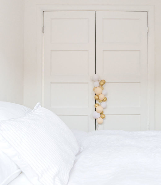 COTTON BALL LIGHTS Inspiration | Bedroom | Premium Touch Of Gold