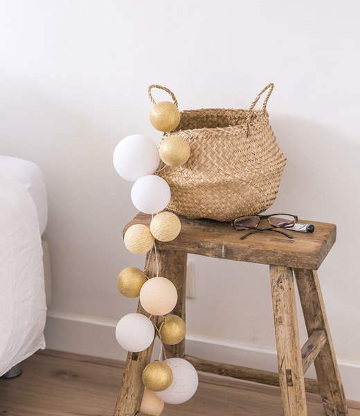 COTTON BALL LIGHTS Inspiration | Bedroom | Premium Touch Of Gold 2