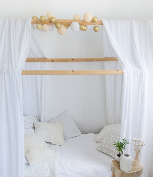 COTTON BALL LIGHTS Inspiration | Bedroom | Premium Touch Of Gold 3