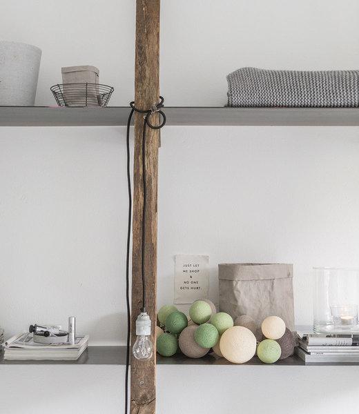 COTTON BALL LIGHTS Inspiration | Bedroom | Premium Urban Greens