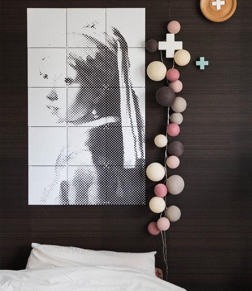 COTTON BALL LIGHTS Inspiration | Bedroom | Premium Velvet Pinks