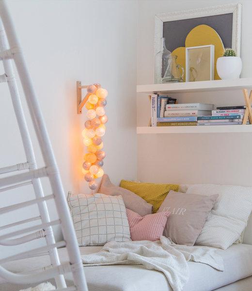 COTTON BALL LIGHTS Inspiration | Bedroom | Sparkling Gold Silver