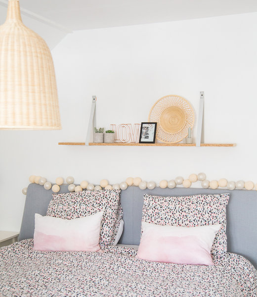 COTTON BALL LIGHTS Inspiration | Bedroom | Sparkling Shell Silver