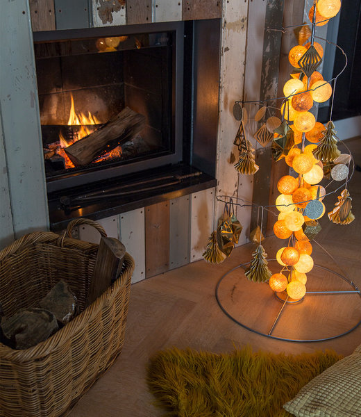 COTTON BALL LIGHTS Inspiratie | Feest | Sparkling Lichtslinger Gold Mix 2
