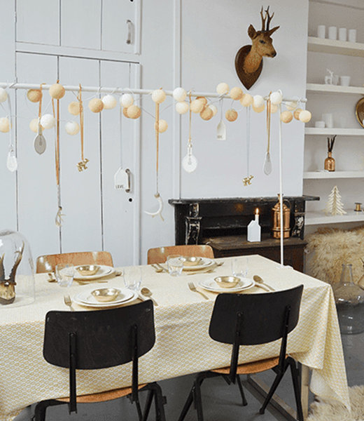 COTTON BALL LIGHTS Inspiration | Party | Sparkling String Light Gold Mix 5