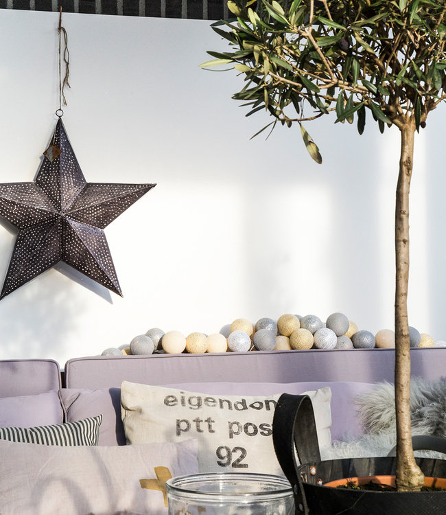 COTTON BALL LIGHTS Inspiration   Party   Sparkling String Light Gold Silver