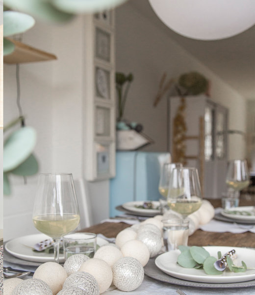 COTTON BALL LIGHTS Inspiration | Party | Sparkling String Light Shell Silver