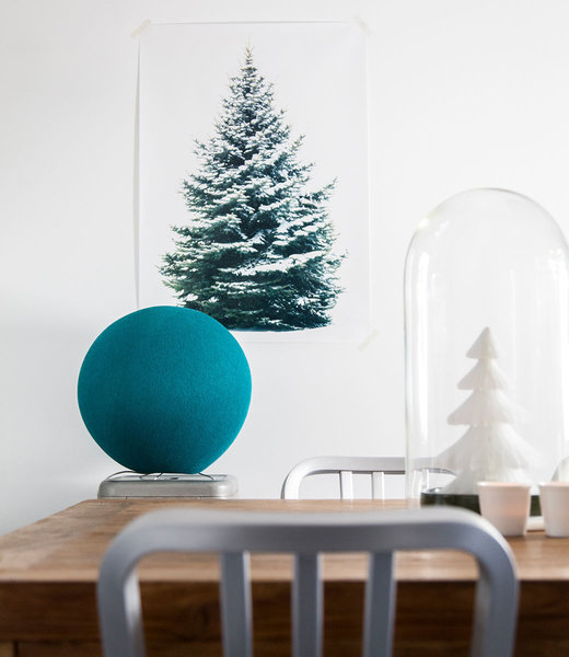 COTTON BALL LIGHTS Inspiration | Party | Heavy Aqua Standing Lamp