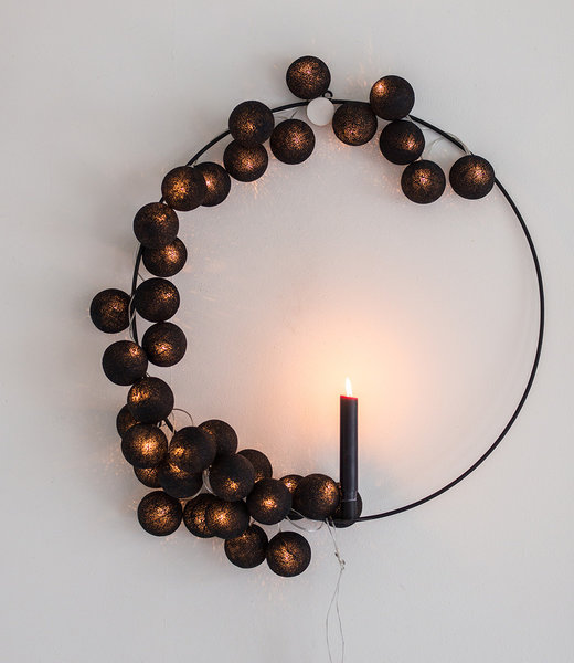 COTTON BALL LIGHTS Inspiration | Party | Regular String Light Black 2