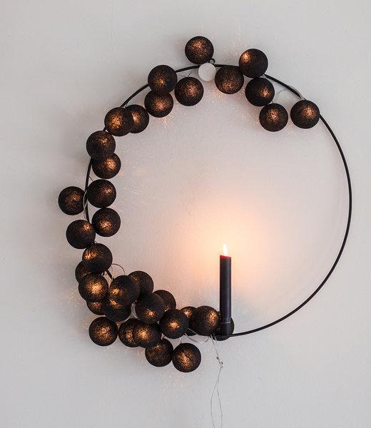 COTTON BALL LIGHTS Inspiratie | Feest | Regular Lichtslinger Black 2