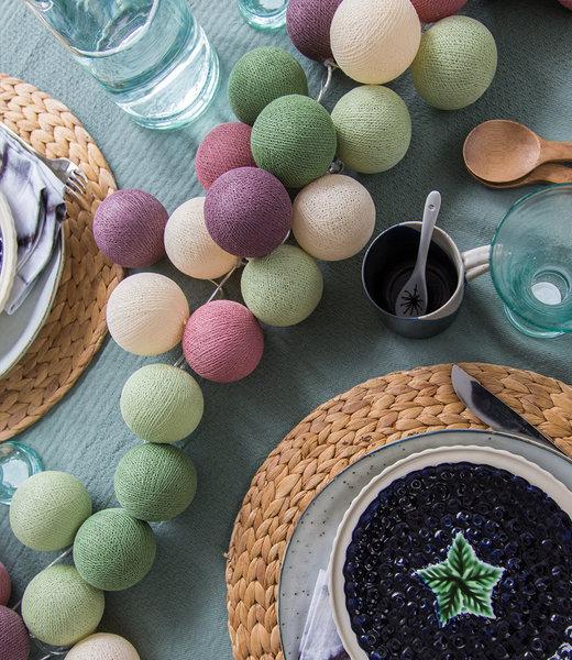 COTTON BALL LIGHTS Inspiration | Party | Regular String Light Forest Fruit