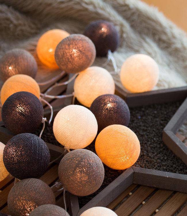 COTTON BALL LIGHTS Inspiration | Party | Regular String Light Clay