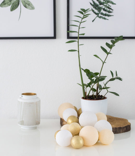 COTTON BALL LIGHTS Inspiration | Party | Premium Touch of Gold