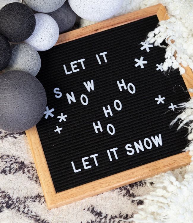 COTTON BALL LIGHTS Inspiration | Party | Premium Strong Greys Letterboard Black