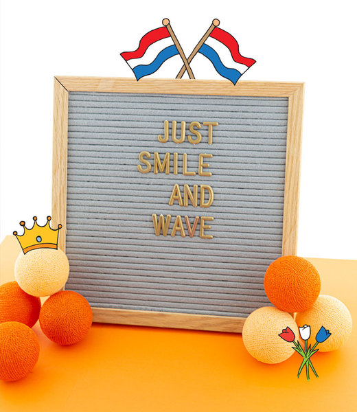 Inspiration | Party | Letterboard 30x30 Grey Kingsday
