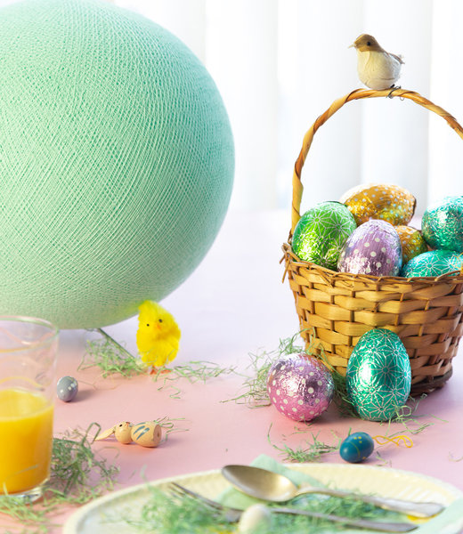 COTTON BALL LIGHTS Inspiration | Party | Easter Standing Lamp Mint