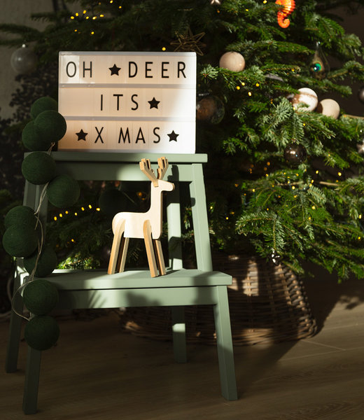 COTTON BALL LIGHTS Inspiratie | Feest | Lightbox A4 Black Mix & Match Green Lichtslinger