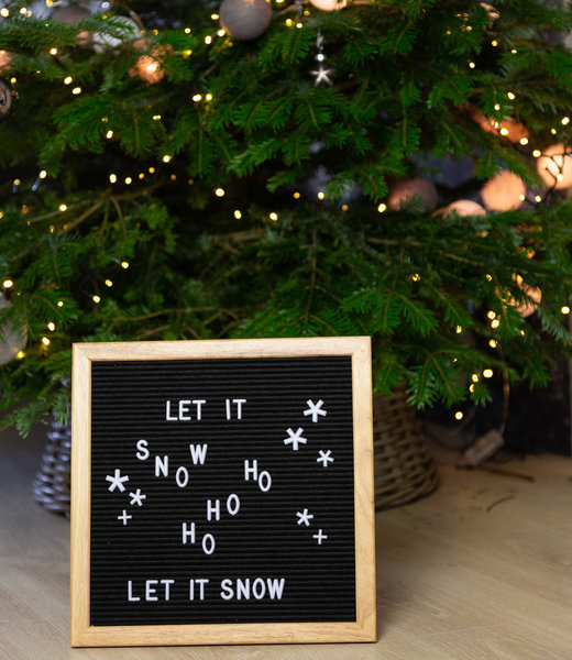 Inspiration | Party | Letterboard 30x30 Black Christmas