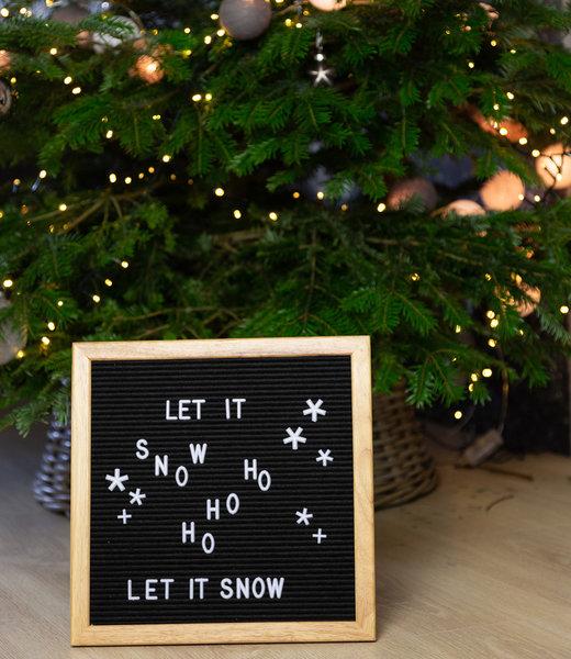 Inspiratie   Feest   Letterboard 30x30 Black Kerst