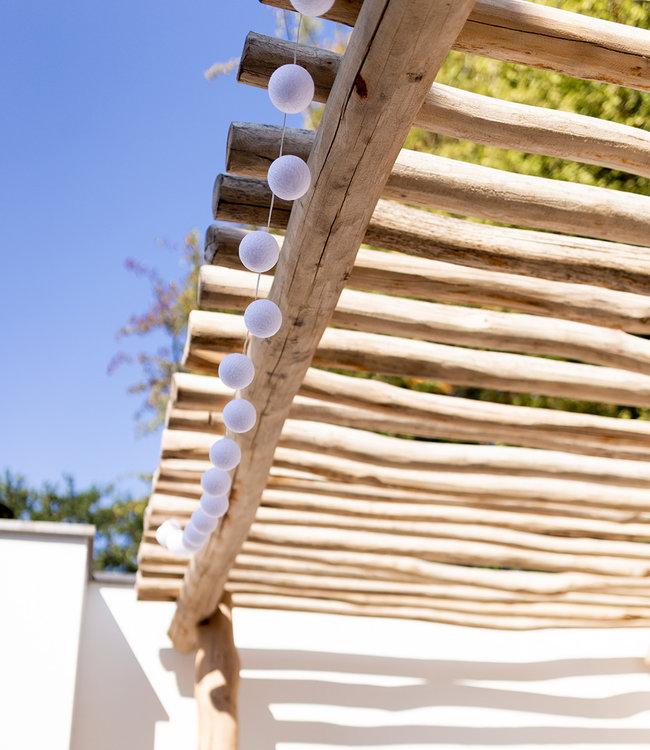 LUBANIDA Inspiration | Garten | Outdoor Cottonball String Light Blanco 3