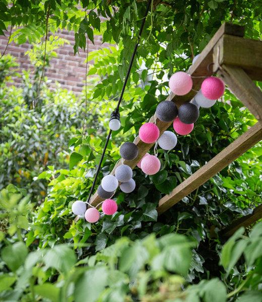COTTON BALL LIGHTS Inspiratie   Tuin   Outdoor Cottonball Lichtslinger Rosa 2