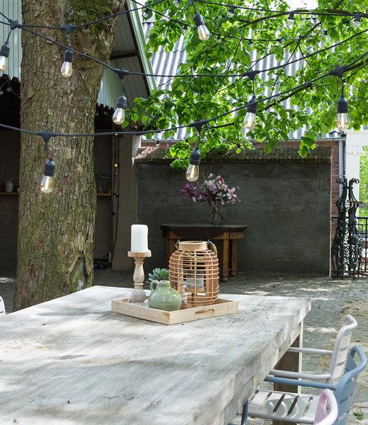 COTTON BALL LIGHTS Inspiratie   Tuin   Outdoor Premium Patio Lichtslinger 3