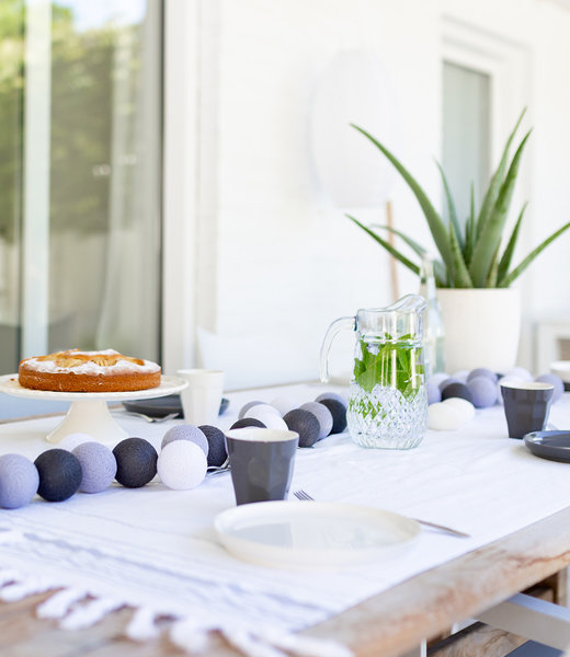 LUBANIDA Inspiratie   Tuin   Outdoor Cottonball Lichtslinger Gris