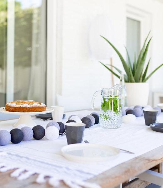 LUBANIDA Inspiration | Garden | Outdoor Cottonball String Light Gris