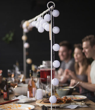 LUBANIDA Inspiration   Garten   Outdoor Cottonball String Light Blanco 6