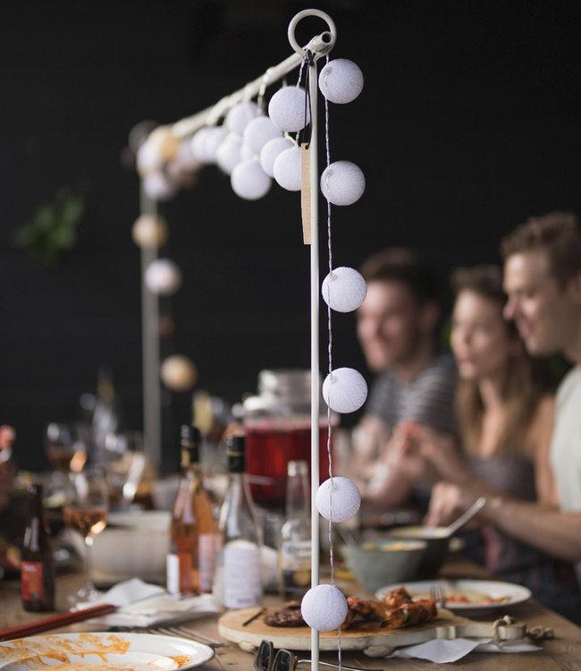 LUBANIDA Inspiration | Garden | Outdoor Cottonball String Light Blanco 6