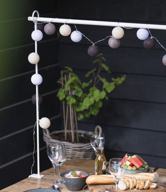 LUBANIDA Inspiration | Garden | Outdoor Cottonball String Light Marron