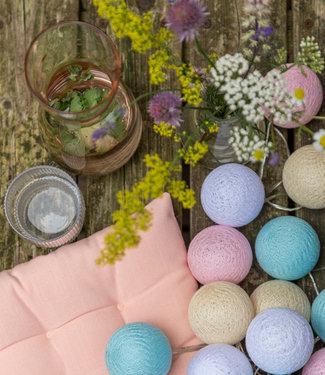 LUBANIDA Inspiration   Garten   Outdoor Cottonball String Light Pastel