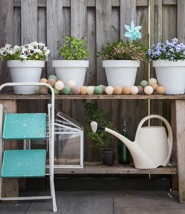 COTTON BALL LIGHTS Inspiratie | Tuin | Regular Lichtslinger Forest Green