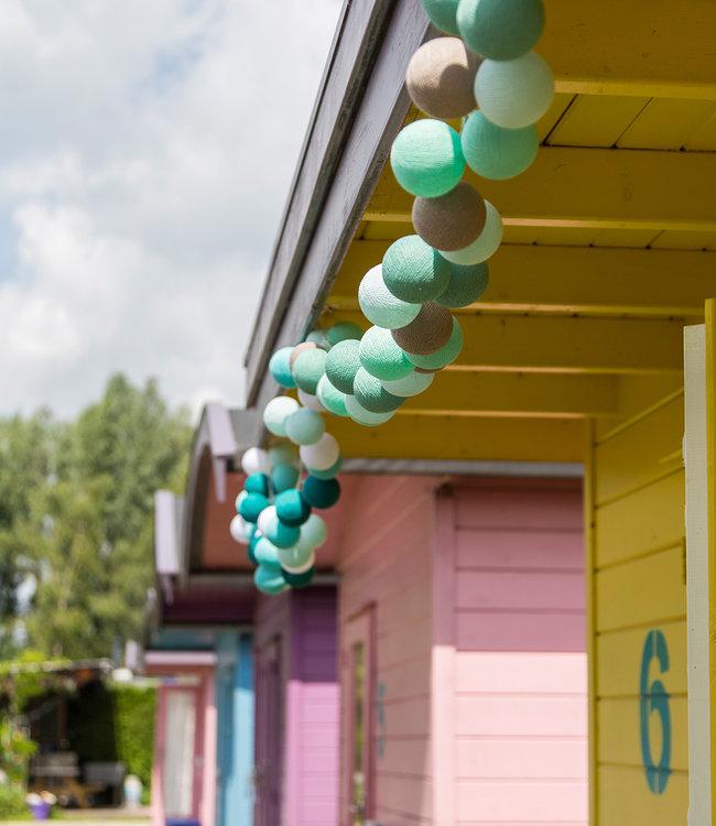 COTTON BALL LIGHTS Inspiration | Garden | Regular String Light Mint Aqua