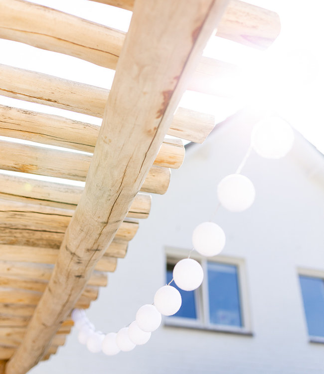 COTTON BALL LIGHTS Inspiration | Garden | Outdoor Cottonball String Light Blanco 4