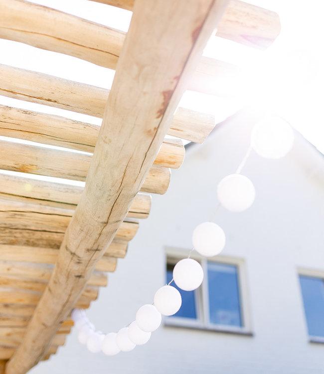 LUBANIDA Inspiration | Garten | Outdoor Cottonball String Light Blanco 4
