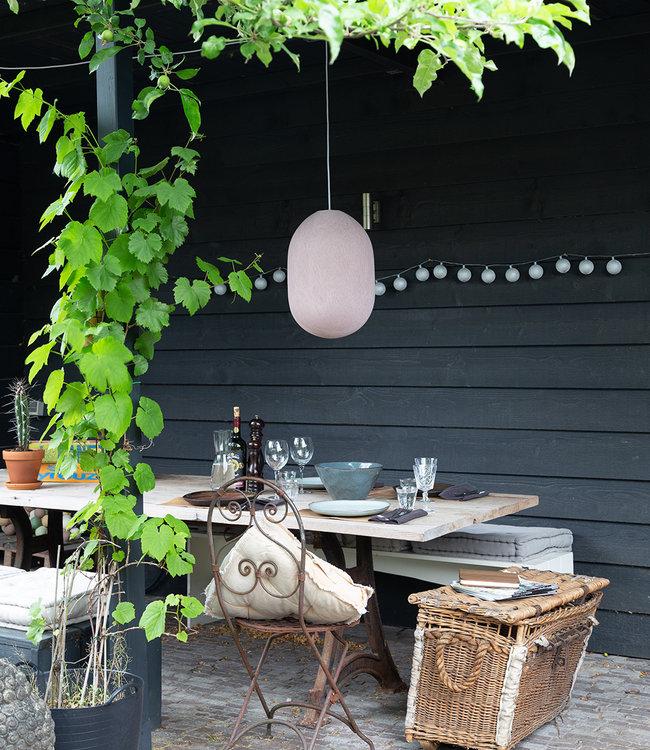 LUBANIDA Inspiration | Garden | Outdoor Cottonball String Light Plata Durian Hanging Lamp
