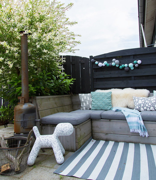 COTTON BALL LIGHTS Inspiratie | Tuin | Premium Lichtslinger Cool Choice Aqua