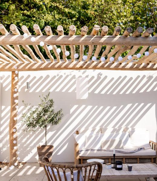 LUBANIDA Inspiration | Garden | Outdoor Cottonball String Light Blanco