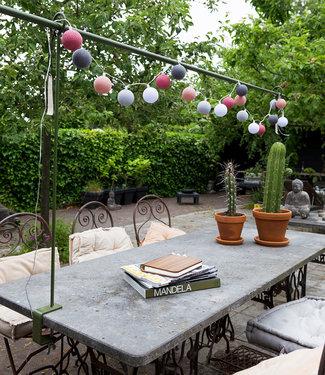 LUBANIDA Inspiration   Garten   Outdoor Cottonball String Light Viejo Rosa