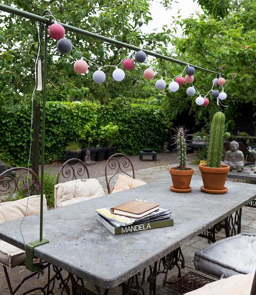 LUBANIDA Inspiratie | Tuin | Outdoor Cottonball Lichtslinger Viejo Rosa