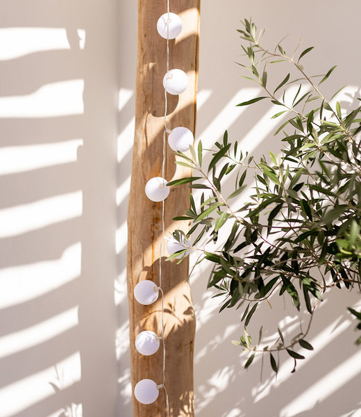 COTTON BALL LIGHTS Inspiration | Garten | Outdoor Cottonball String Light Blanco 2